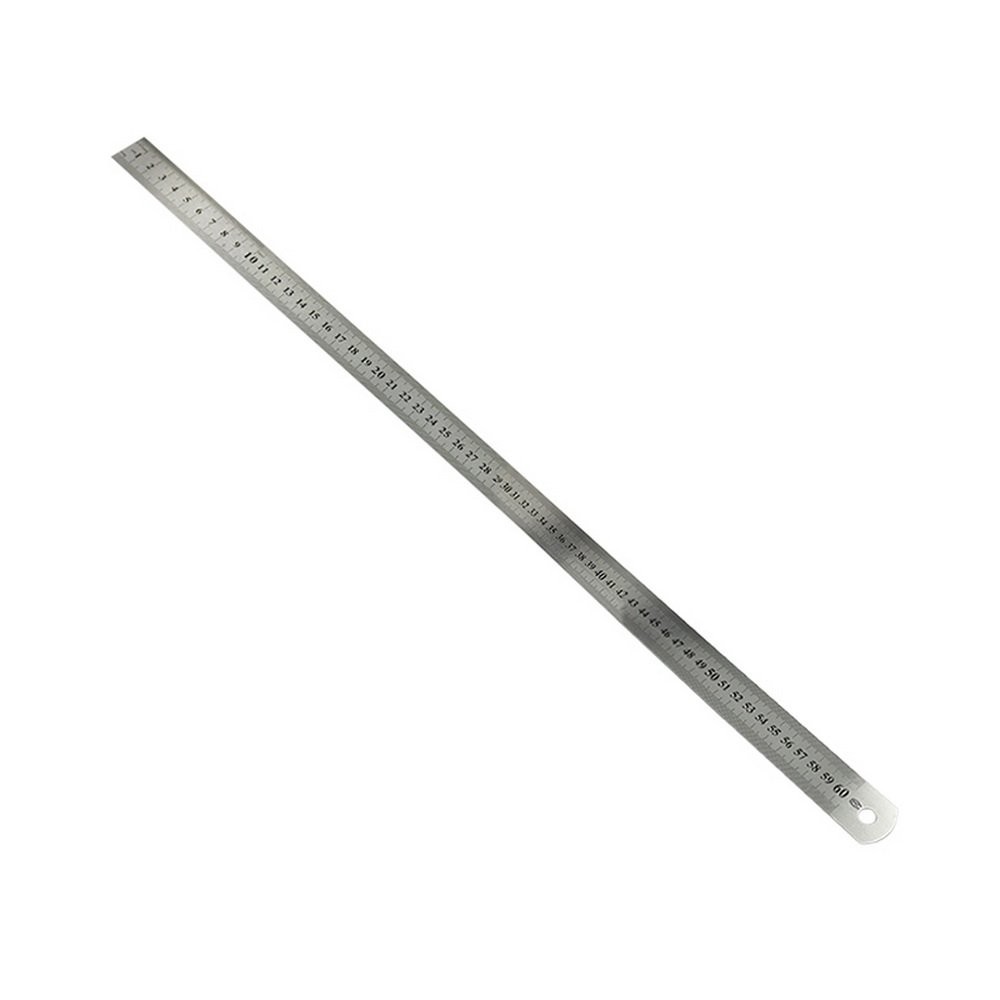 Souarts Metric Steel Ruler Double-Sided Scale Stainless Steel Ruler 15-103 cm Ruler