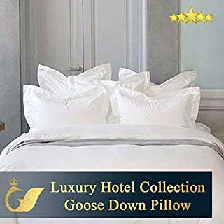 Crown Goose Three Chamber Construction Original Premium Hotel Collection European Goose Down Filled Pillow - Standard with 875 fill power 240oz