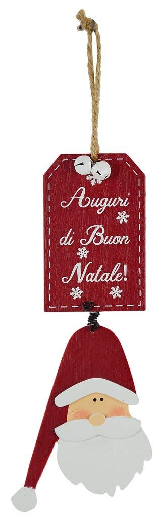 Corde LORENZONGIFT lorenzon Gift Tm-7010Décoration de Noël Unique Rouge Panneau MDF