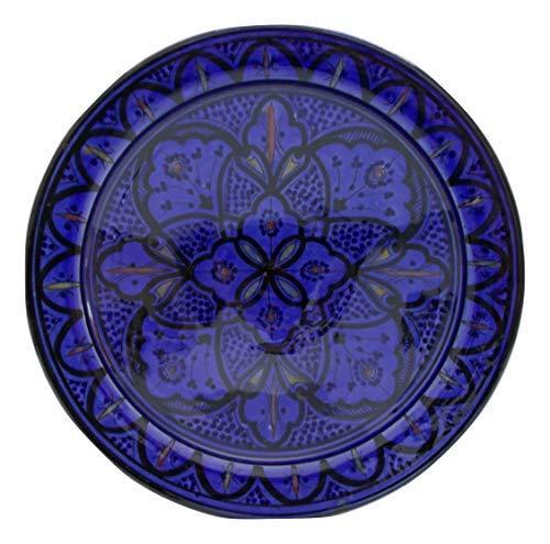 Etnico Arredo Piatto Ceramica Parete Portata cous cous Servizio Set antipastiera Decorativo Arabo Marocco 280918 1402 Artigianato Marocco