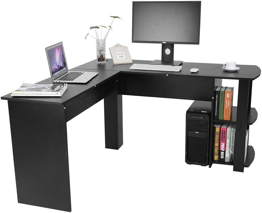 Zerone Forma de L – Mesa de Escritorio en Esquina, Computer ángulo ...