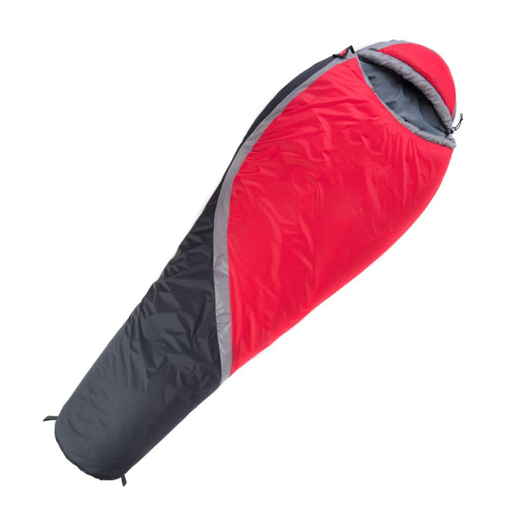 ZWYY Durable,Breathable,comfortableSchlaftasche, Bequeme Warm Sleep Sack Sack Mummy Nylon Ultralight Sleep Bags Waterproof Breathable Warm Sleeping Pad geeignet für Camping Wandern,rot,220  85cm