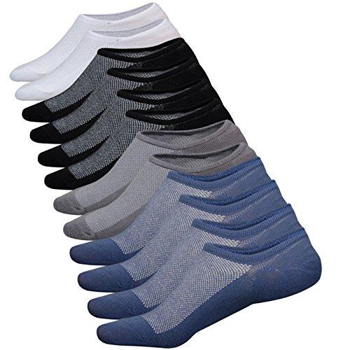 dericeedic no show socks men 6 pairs mens cotton low cut socks non-slip grips casual low cut boat sock size 6-11