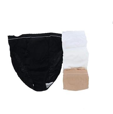 e1a305801a5d Breezies Set 4 Cotton Hi-Cut Panties Ultimair Lining A307973 at Amazon  Women's Clothing store: