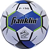 Franklin Sports Competition F-150 Soccer Ball, Blue, Size 5