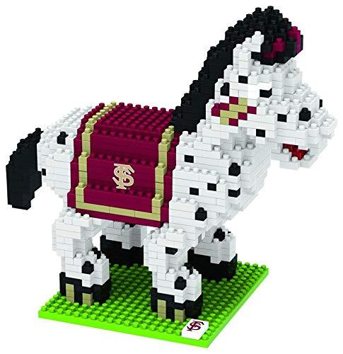 FOCO NCAA Florida State Seminoles 3D Brxlz Mascot Building Blocks SET3D Brxlz Mascot Building Blocks Set, Team Color, One Size