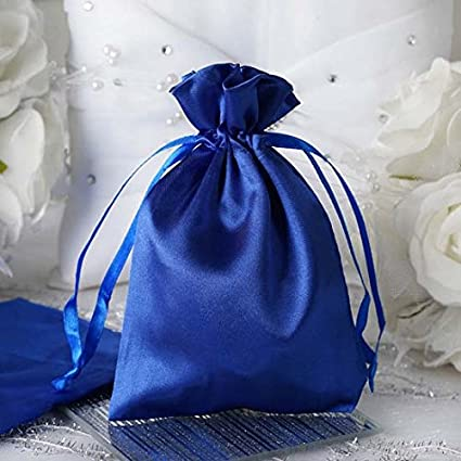 e72365eef323 Efavormart 12PCS Royal Blue Satin Gift Bag Drawstring Pouch Wedding Favors  Bridal Shower Candy Jewelry Bags - 4