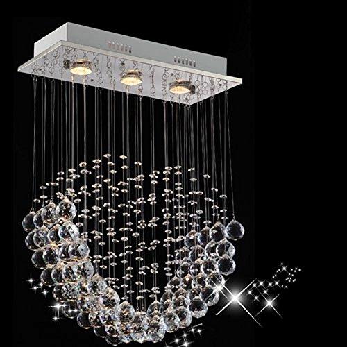 DMMSS Romantic Heart Shaped Crystal Chandelier Bedroom Lights Transparent Led Crystal Ball Pendants L45W20Cm L60W20Cm 45Cm
