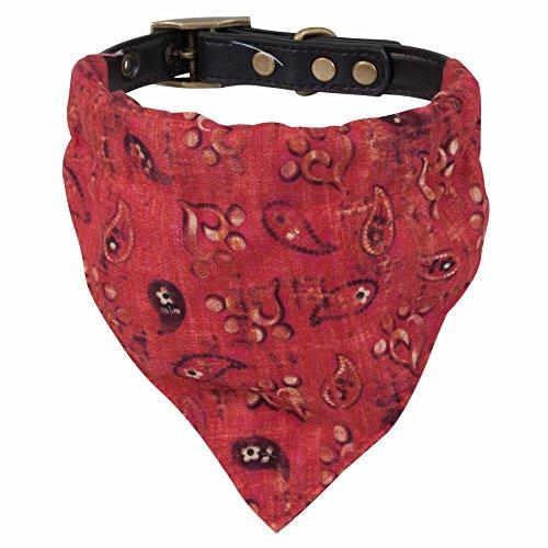 Red Bandana Dog Collar - MuttNation Fueled by Miranda Lambert Bandana Custom Fit Dog Collar, Red Bandana Print