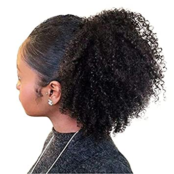 Amazon Com Fshine 16 Inch Afro Ponytail Hair Extensions For Black