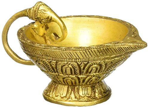 Other home decor gangesindia brass puja diya carved lamp