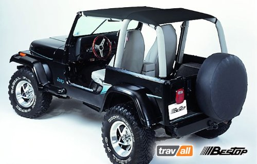 Amazon.com: Bestop 52529 15 Safari Bikini Top BLACK DENIM For 1992 95 Jeep  Wrangler YJ: Automotive