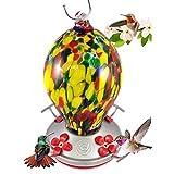 Grateful Gnome – Comedero de colibrí, 28oz, estilo de huevo, Speckled Egg