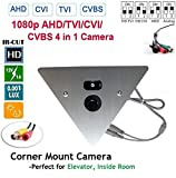1/3″ Sony Super HAD CCD II 700TVL 0.1Lux Corner Mountable Camera 2.8mm Wide Angle 12v (DSC-SP09S-700-2.8mm)