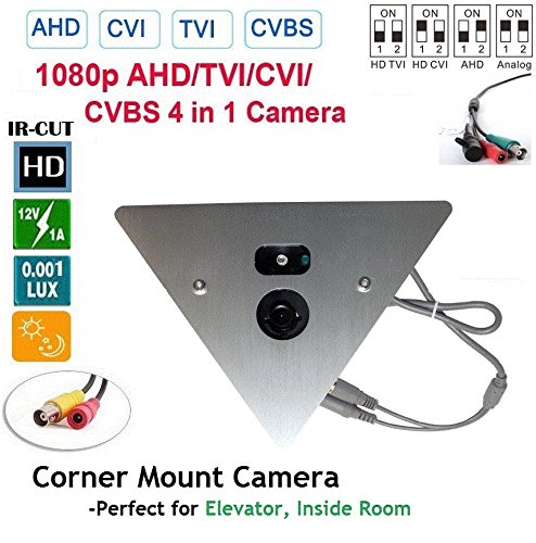 CCTV Spy Corner Mount Hidden Security Camera 700 TV Lines with 2.8mm Lens