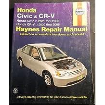 2001-2006 HAYNES HONDA CIVIC & CR-V REPAIR SERVICE MANUAL 42026 (209)