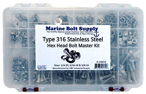 Type 316 Stainless Steel Hex Bolt Master Kit Marine Bolt Supply 6-118213