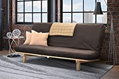 The Studio Bifold Futon Frame is crafted from Tulip Poplar, comes in a natural finish, and is chemical-free. Assembly is required.