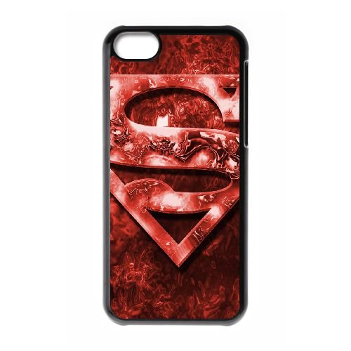 Superman Red coque iPhone 5c cellulaire cas coque de téléphone cas téléphone cellulaire noir couvercle EEECBCAAN07271