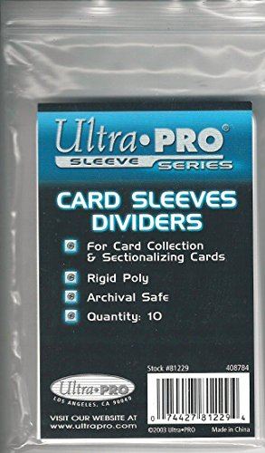 Ultra Pro Card Sleeves Dividers (10 Dividers) (Buy 5 or more items, get 10% off on your entire order from 888tcg)