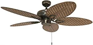 Amazon Com Harbor Breeze Tilghman Ii 52 In Bronze Indoor Outdoor Residential Ceiling Fan With