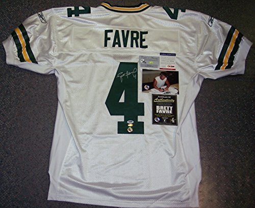 Brett Favre Autographed Hand Signed Official Green Bay Packers White Authentic Reebok Jersey - Size 48 - PSA/DNA