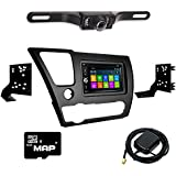 Otto Navi DVD GPS Navigation Multimedia Radio and Dash Kit for Honda Civic 2013-2015 with Back up camera and extra