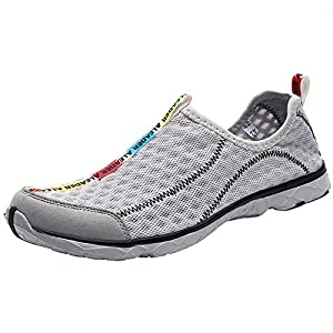 Aleader Men's Mesh Slip On Water Shoes Gray 13 D(M) US