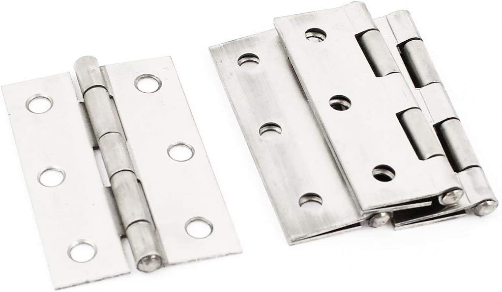 3 Long Autoly 4pcs 3-inch Long Stainless Steel Folding Butt Hinge for Cabinet Gate Closet Door
