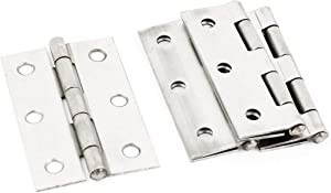 Autoly 4 Packs 2.5 Inch Stainless Steel Interior Folding Door Butt Hinge Furniture Cabinet Gate Closet Jewelry Box Door Fitting Hardware (2.5