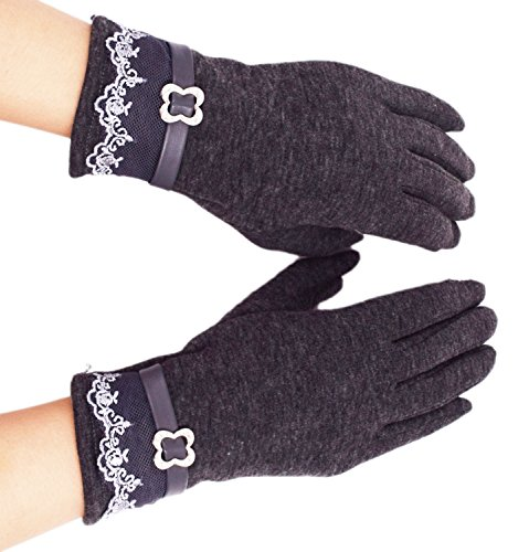 Women's Touch Screen Gloves, WITERY Comfy Polar Fleece Windproof / Coldproof Touch Screen Mittens Gloves for Women Ladies - Ideal for Dress / Driving / Cycling / Motorcycle / Camping / Running Gloves Impact Oven Mitt
