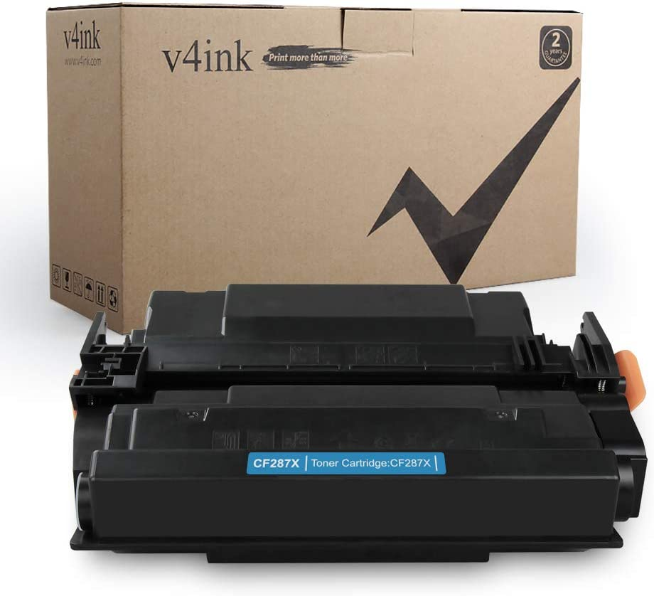 V4INK High Yield Compatible Toner Cartridge Replacement for HP 87X CF287X Toner for use in HP Laserjet Enterprise M506dn M506N M506X M506, HP Pro M501dn M501n MFP M527Dn M527Z Printer