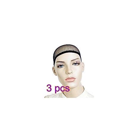 3X CAOLATOR Peluca Caps Redecillas de Peluca Pelucas Accesorios Usar Pelucas Herramientas Esenciales-Negro 3pcs