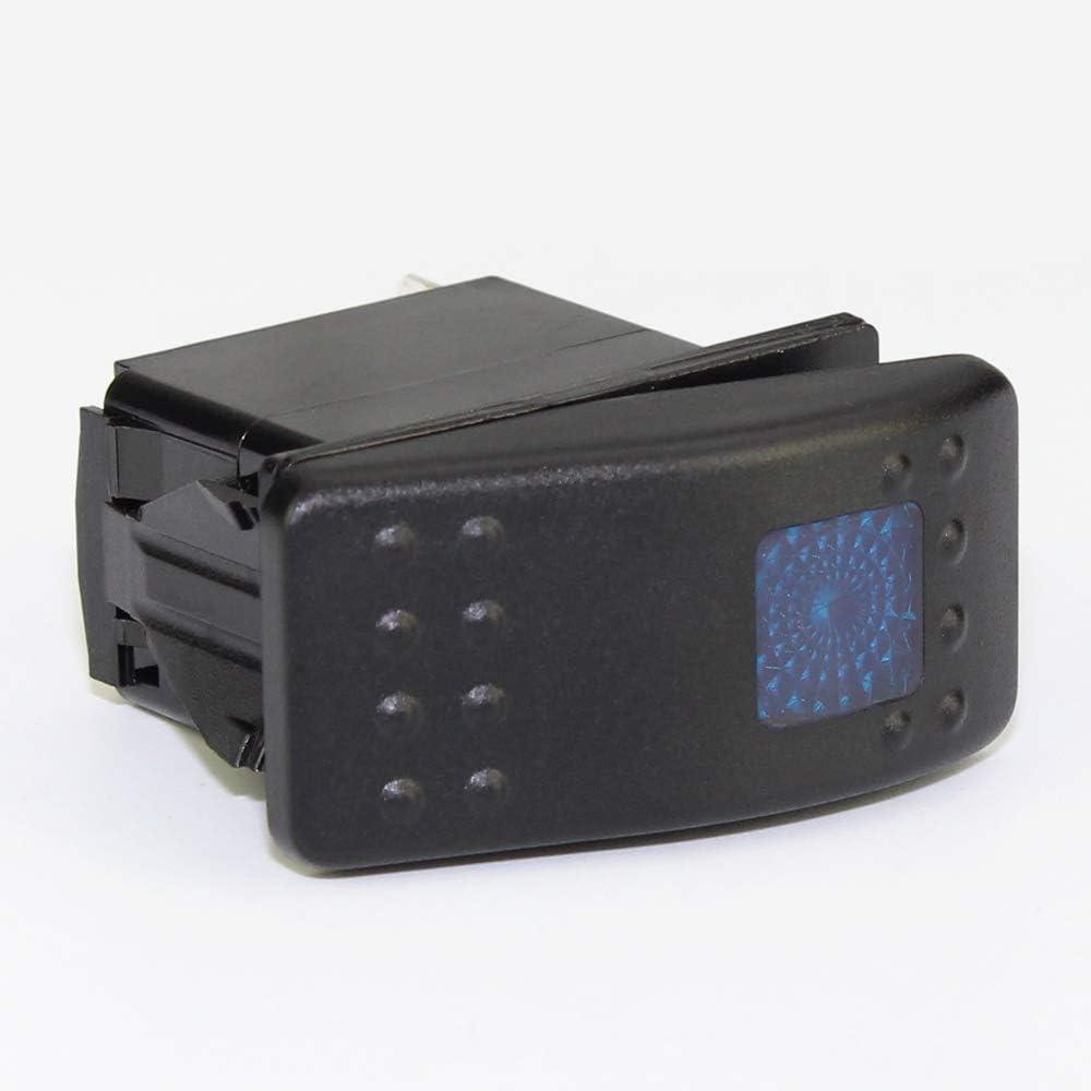 DaierTek LED Rocker Switch 12VDC Light Switch ON Off Waterproof Automotive SPST 3Pin with 12VDC LED Light