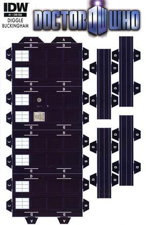 Doctor Who Vol 3 #1 Tardis Papercraft Separate