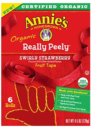 Bag Really Leather (Annie's Homegrown Organic Really Peely Fruit Tape Swirly Strawberry - Pack of 2, 4.5 Oz. Ea.)