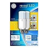 GE Lighting 36477 Reveal LED Bright Stik Light Bulb with Medium Base, 16-Watt, 2-Pack
