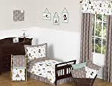 Sweet Jojo Designs 5-Piece Outdoor Adventure Nature Fox Bear Animals Boys Toddler Bedding Set