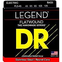 Cuerdas de alta definición DR Strings - Cuerdas bajas redondeadas de acero inoxidable Flatwound 45-125