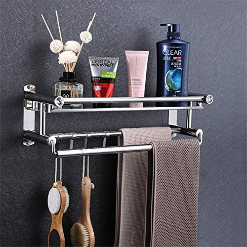 Bathroom Shower Bath Shelf Stainless Steel Adhesive Caddy Basket Wall Towel Bar No Drilling Shelves Kitchen Organizer Rack