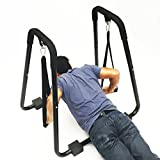 Dip Station Workout Pull Push Bar with Straps Fitness Tower Sturdy Stand Dip Station