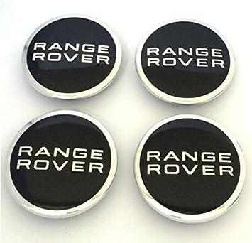 4 centros de llanta de aleación cromada de 63 mm negros para Range Rover, Sport, L322, Evoque.: Amazon.es: Coche y moto