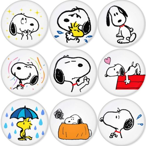 SNOOPY Round Badges 1.75