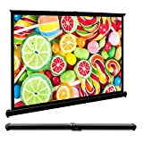 Remoze 50 Inch Projection Screen 16:9 HD Mini Portable Table Screen Or Hanging Screen, Manual Pull Down Projector Screen For Outdoor Home Cinema Office