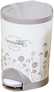 Trash Can Ali@ Home Toilet Toilet Living Room Living Room Bedroom Kitchen With A Covered (Color : Red wine, Size : 8.5L)