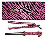 zebra flat iron set - Bebella Dual Gift Set with 18-25mm Professional Clipless Hair Curling Iron and Professional 1.25