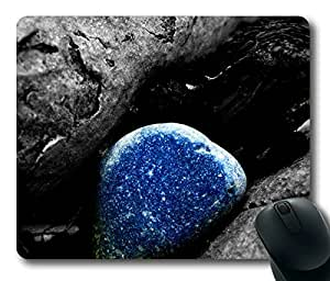 Beautiful Blue Stone Macro Masterpiece Limited Design Oblong Mouse Pad by Cases & Mousepads
