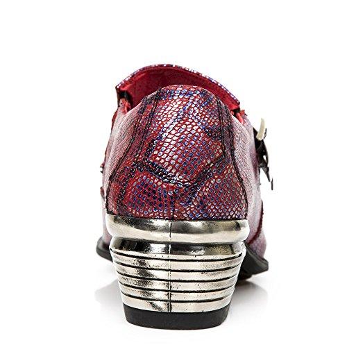 New Rock Dallas rosso Pelle Scarpe M.2246-S35