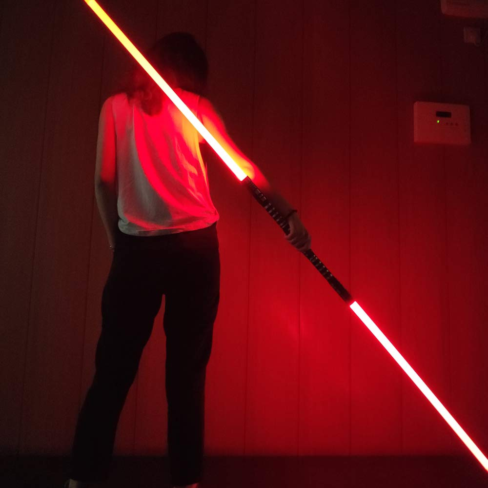 YDD GENIUS Star Wars Lightsaber Metal Aluminum Hilt, Ghost Premium Force FX RGB Led 16 Colors Changing Black Series Light Saber for Adults and Kids, Support Real Heavy Dueling by YDD GENIUS (Image #7)
