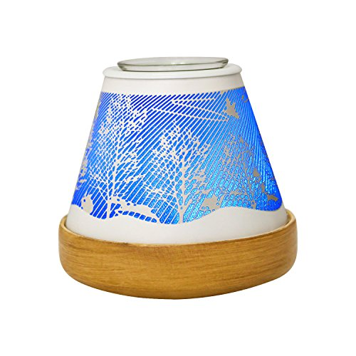 Fragrant Wax - COOSA White Forest Multicolor PTC Heating Electric Incense Burner Oil Warmer Scented Wax Dissolution (White Forest)